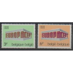 Belgique - 1969 - No 1489/1490 - Europa