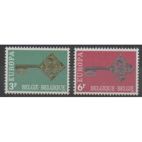 Belgique - 1968 - No 1452/1453 - Europa