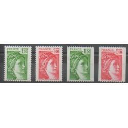 France - Poste - 1980 - No 2101/2104