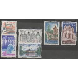 France - Poste - 1980 - No 2081/2084 - 2111/2112 - Sites