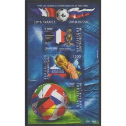 Centrafricaine (République) - 2015 - No 3850/3852 - Football