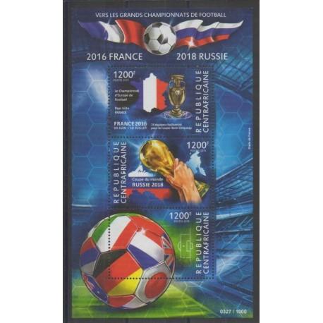 Centrafricaine (République) - 2015 - No 3850/3852 - Football