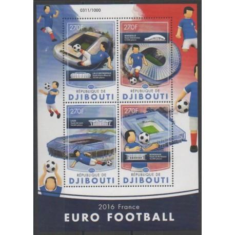 Djibouti - 2016 - No 995/998 - Football