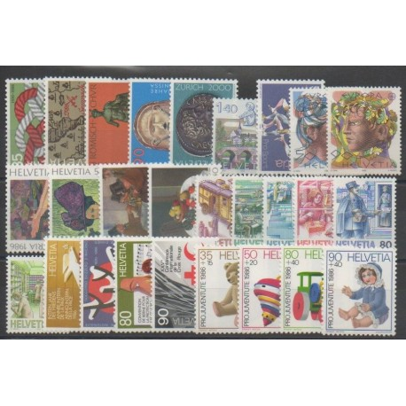 Suisse - Année complète - 1986 - No 1237/1263