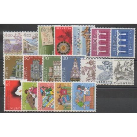 Suisse - Année complète - 1984 - No 1194/1216 - BF24
