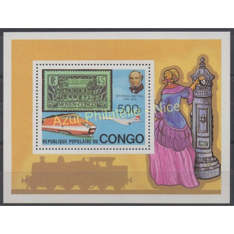 Congo (Republic of) - 1979 - Nb BF 19 - Stamps on stamps