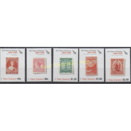 Nouvelle-Zélande - 2005 - No 2142/2146 - Timbres sur timbres