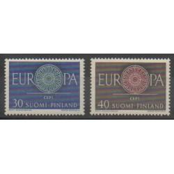 Finlande - 1960 - No 501/502 - Europa