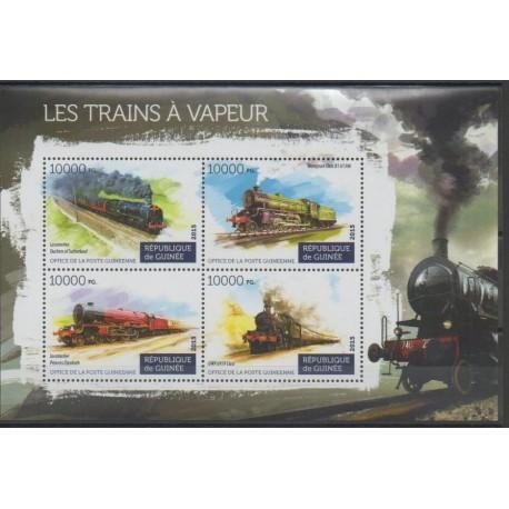 Guinée - 2015 - No 7878/7881 - Chemins de fer