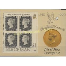 Man (Ile de) - 1990 - No BF 13 - Timbres sur timbres