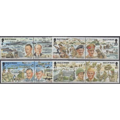 Man (Ile de) - 1994 - No 629/636 - Seconde Guerre mondiale