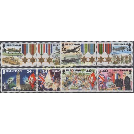Man (Isle of) - 1995 - Nb 667/674 - Second world war