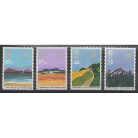 Grande-Bretagne - 1983 - No 1071/1074 - Sites