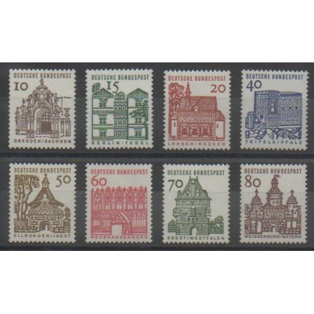Allemagne occidentale (RFA) - 1964 - No 322/328 - Monuments