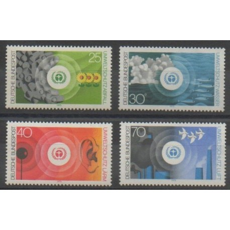 Allemagne occidentale (RFA) - 1973 - No 623/626 - Environnement