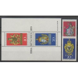 West Germany (FRG) - 1973 - Nb 614/617 - Coats of arms