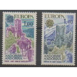 French Andorra - 1977 - Nb 261/262 - Monuments - Europa