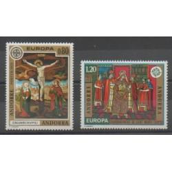Andorre - 1975 - No 243/244 - Peinture - Europa