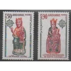 French Andorra - 1974 - Nb 237/238 - Art - Europa