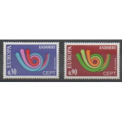 French Andorra - 1973 - Nb 226/227 - Europa