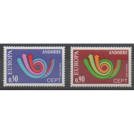 Andorre - 1973 - No 226/227 - Europa