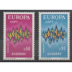 French Andorra - 1972 - Nb 217/218 - Europa