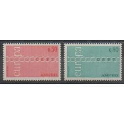 Andorre - 1971 - No 212/213 - Europa