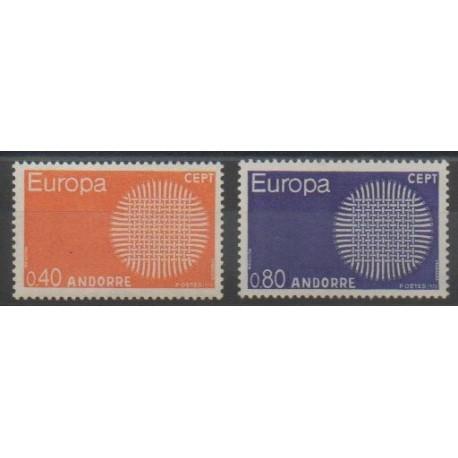 Andorre - 1970 - No 202/203 - Europa