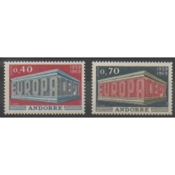 French Andorra - 1969 - Nb 194/195 - Europa
