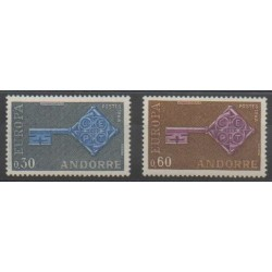 French Andorra - 1968 - Nb 188/189 - Europa