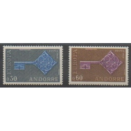 Andorre - 1968 - No 188/189 - Europa