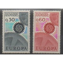 French Andorra - 1967 - Nb 179/180 - Europa