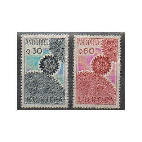 Andorre - 1967 - No 179/180 - Europa
