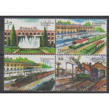 Tadjikistan - 2015 - No 526/529 - Chemins de fer