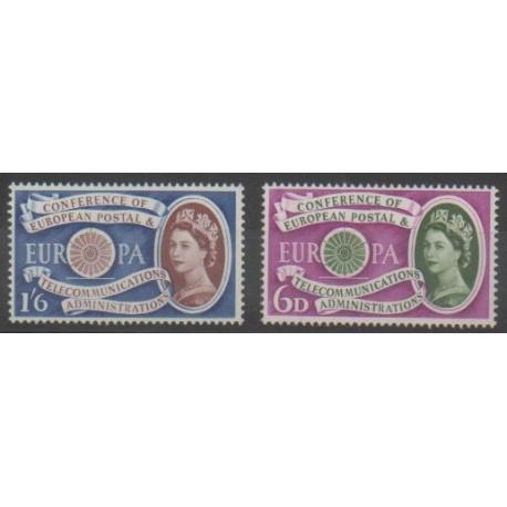 Grande-Bretagne - 1960 - No 357/358 - Europa