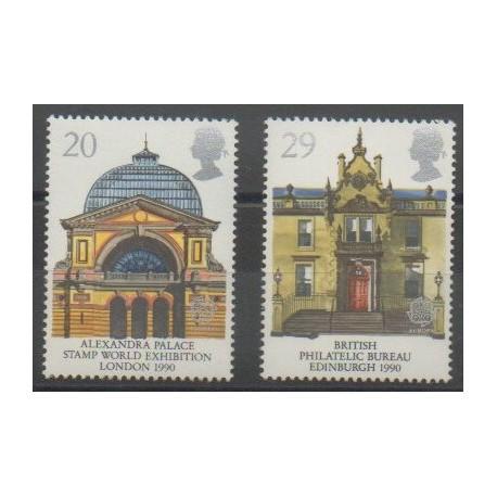 Grande-Bretagne - 1990 - No 1455/1456 - Monuments - Europa