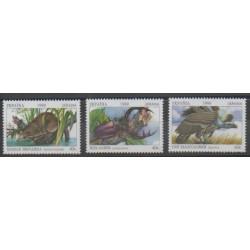 Ukraine - 1999 - No 370M - 370N - 370P - Oiseaux - Insectes