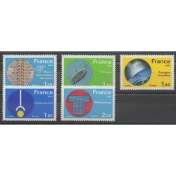 France - Poste - 1981 - No 2126/2130 - Sciences et Techniques