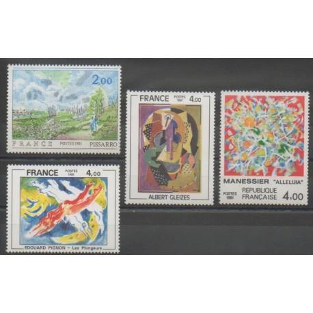 France - Poste - 1981 - No 2136/2137 - 2168/2169 - Peinture