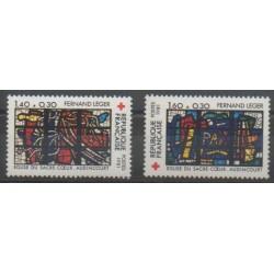 France - Poste - 1981 - No 2175/2176 - Églises - Santé ou Croix-Rouge
