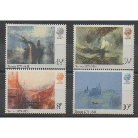 Grande-Bretagne - 1975 - No 747/750 - Peinture