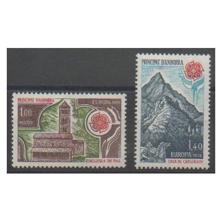 Andorre - 1978 - No 269/270 - Monuments - Europa