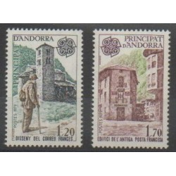 Andorre - 1979 - No 276/277 - Monuments - Europa