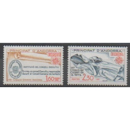 Andorre - 1982 - No 300/301 - Europa