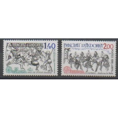 Andorre - 1981 - No 292/293 - Europa