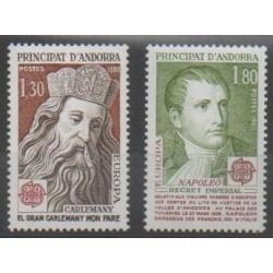 French Andorra - 1980 - Nb 284/285 - Napoleon - Various Historics Themes - Europa
