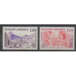 Andorre - 1983 - No 313/314 - Sciences et Techniques - Europa