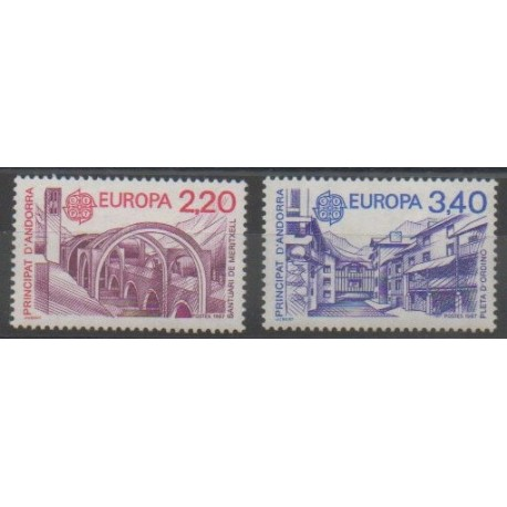 Andorre - 1987 - No 358/359 - Monuments - Europa