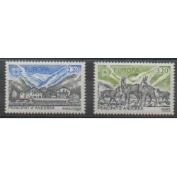 Andorre - 1986 - No 348/349 - Environnement - Europa