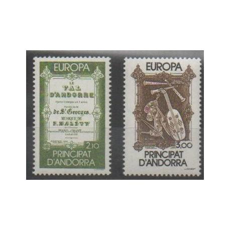 Andorre - 1985 - No 339/340 - Musique - Europa